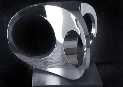 3 Point Turn by Paul Mount, stainless steel